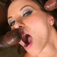 Alisya Gapes gets double penetrated by hung black bulls from Blacks on Blondes