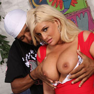 Big boobed and booty teen Julie Cash riding a big black Cock from Blacks on Blondes