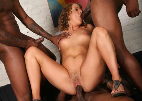 Kennedy Dream gets gangbanged and bukkaked by black Guys from Blacks on Blondes