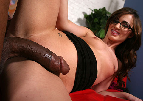 Sexy brunette Lily Carter gets an interracial creampie from Blacks on Blondes