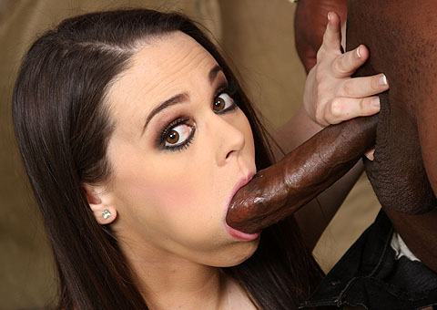 Hot brunette Tessa Lane gets fucked by black pole from Blacks on Blondes