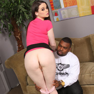 Natural Titted Tessa Lane gets facialed by a black Guy from Blacks on Blondes