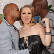 Busty Vicky Vixen gets all her holes drilled by black Men from Blacks on Blondes