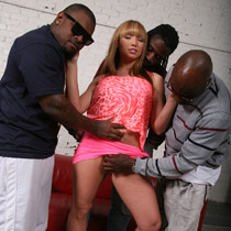 Busty Maya Hills gets anal drilled by three black Guys from Blacks on Blondes
