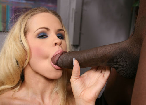 Hot blonde Britney Young fucks a gigantic black dick on blacks on blondes blog