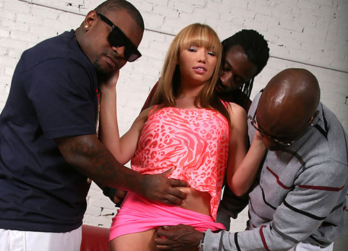 Dirty Maya Hills taking three big black cocks in her ass one by one on blacks on blondes blog