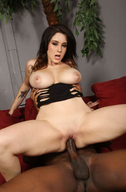 Busty babe Noelle Easton has an interracial introduction to porn on blacks on blondes blog